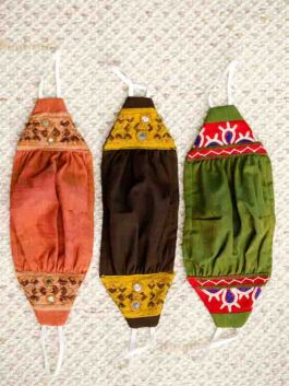 Set of 3 Embroidered...