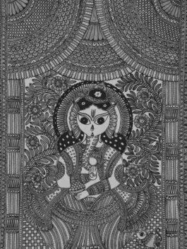 Madhubani Painted Calm Ganesha