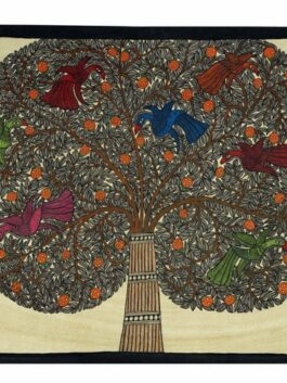 Madhubani Painted Tree of life