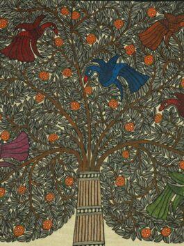 Madhubani Painted Tree of life