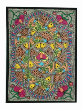 Madhubani  Painted Fish Syncronisation