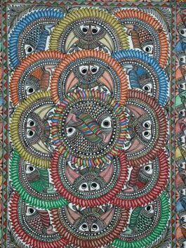 Madhubani Painted Fish Union
