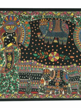 Madhubani Painted Elephant Motherhood