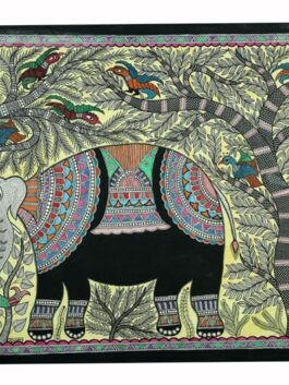 Madhubani Painted Sweet Melody Elephant Art