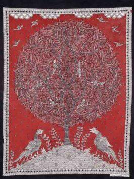 Tree of life Peacock Kalamkari