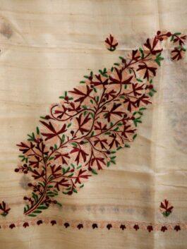 Leaf Buti Tussar Stole