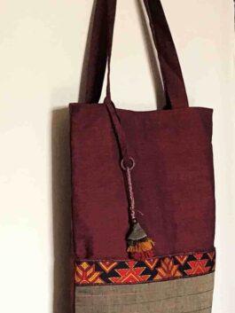 Maroon & Hazel Tote bag