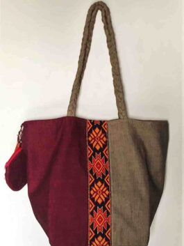 Hazel & Maroon Hobo Bag