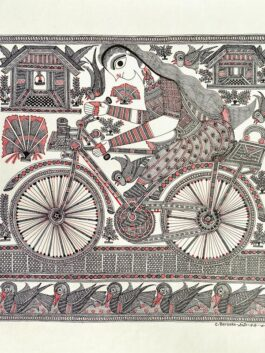 Madhubani Painted Cycling