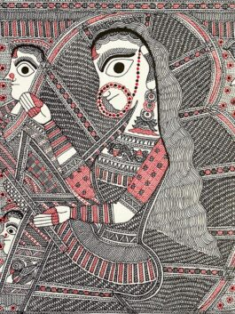 Madhubani Painted Bride's Farewell