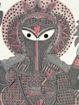 Madhubani Painted Lord Ganesha