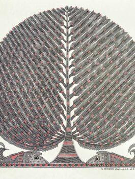 Madhubani Painted Kalp Vriksh