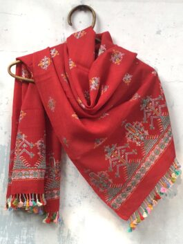 Embroidered Silk Stole