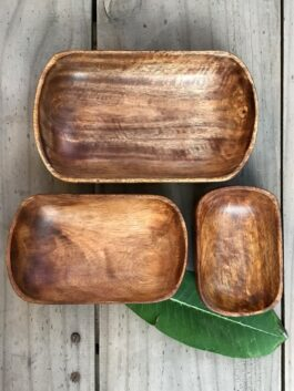 Set of 3 Oval Bowls