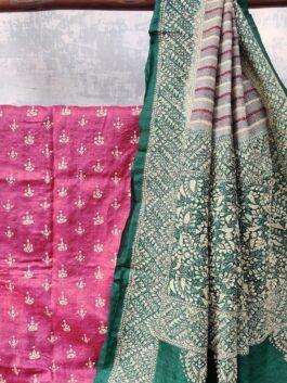 Embroidered Silk Sar...