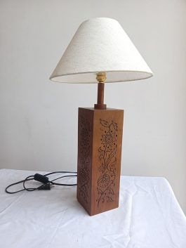 Carved Table Lamp