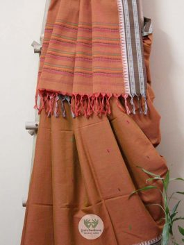 Woven Saree with Tra...