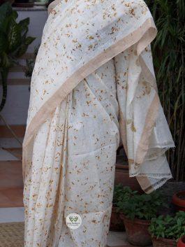 Linen Saree with Eco...